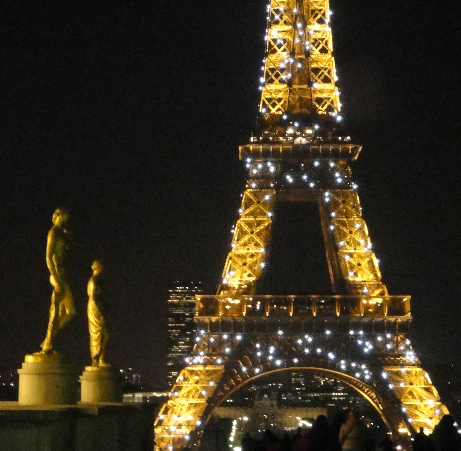 eiffel towering a woman
