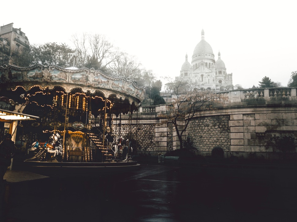 Carrousel and Sacré Coeur, Montmartre