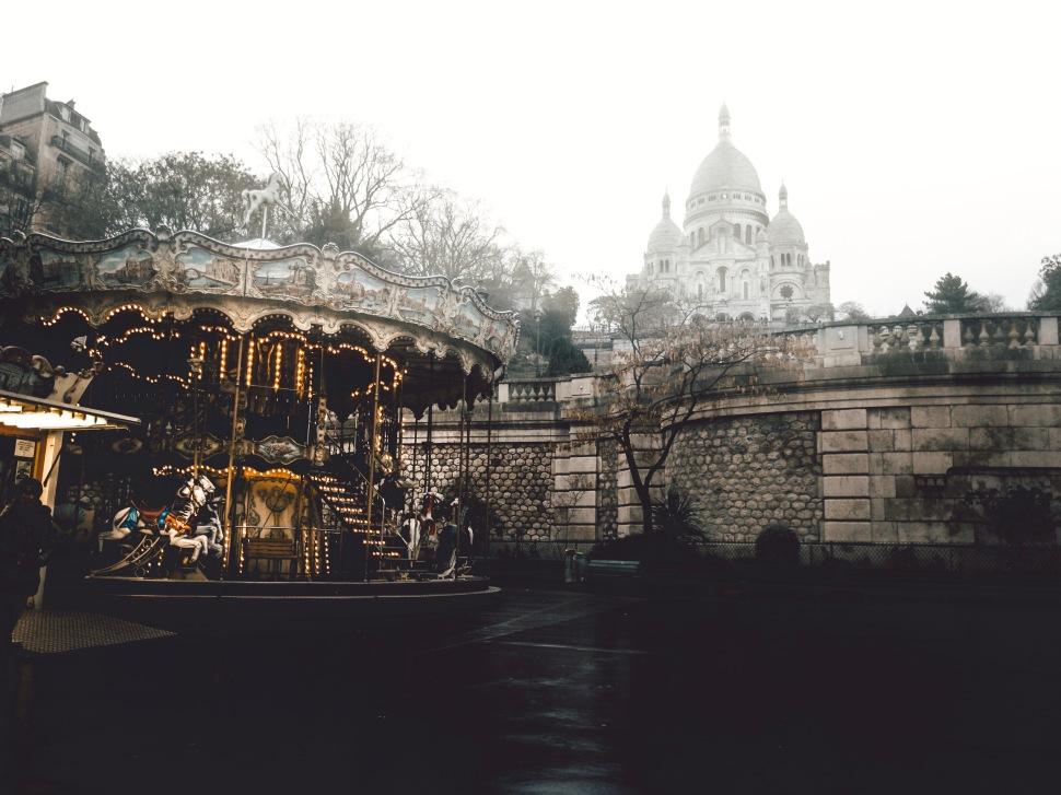 Carrousel and Sacré Coeur, Montmartre