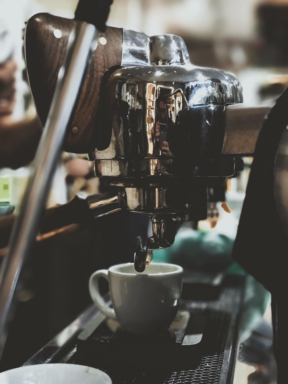 Espresso machine in Paris