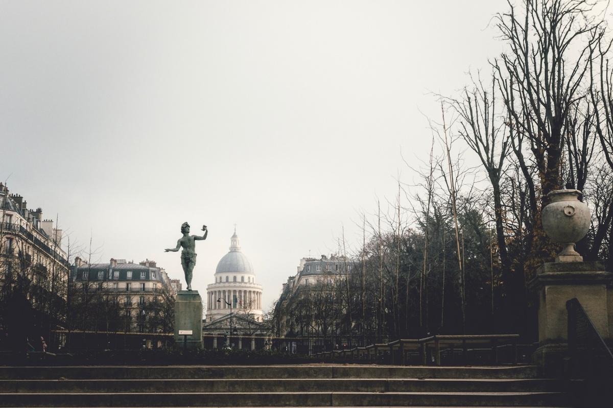 Fog, Pantheon in Luxembourg Gardens, Paris