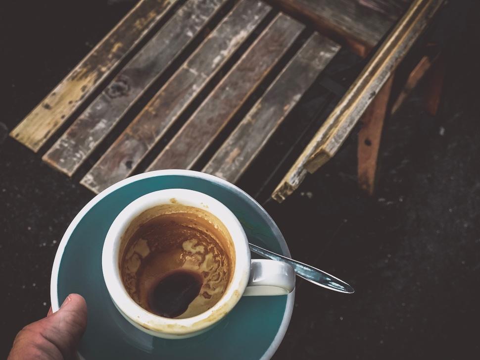 Coffee cup at café, Paris France