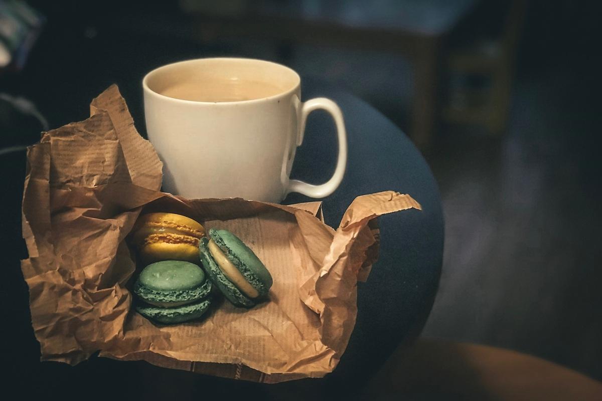 Macarons and tea in Paris