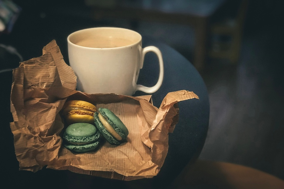 Macarons and tea in Paris