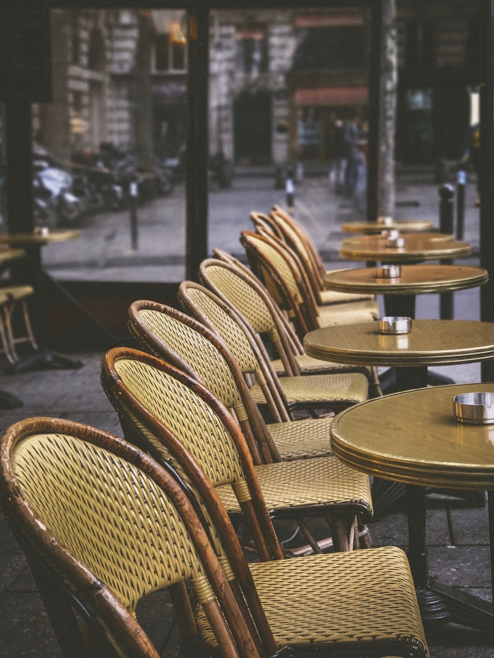 Café chairs, Place Saint Sulpice, Paris