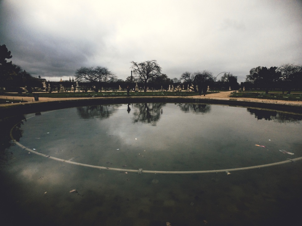 Fountain at Tuileries Gardens, Paris France