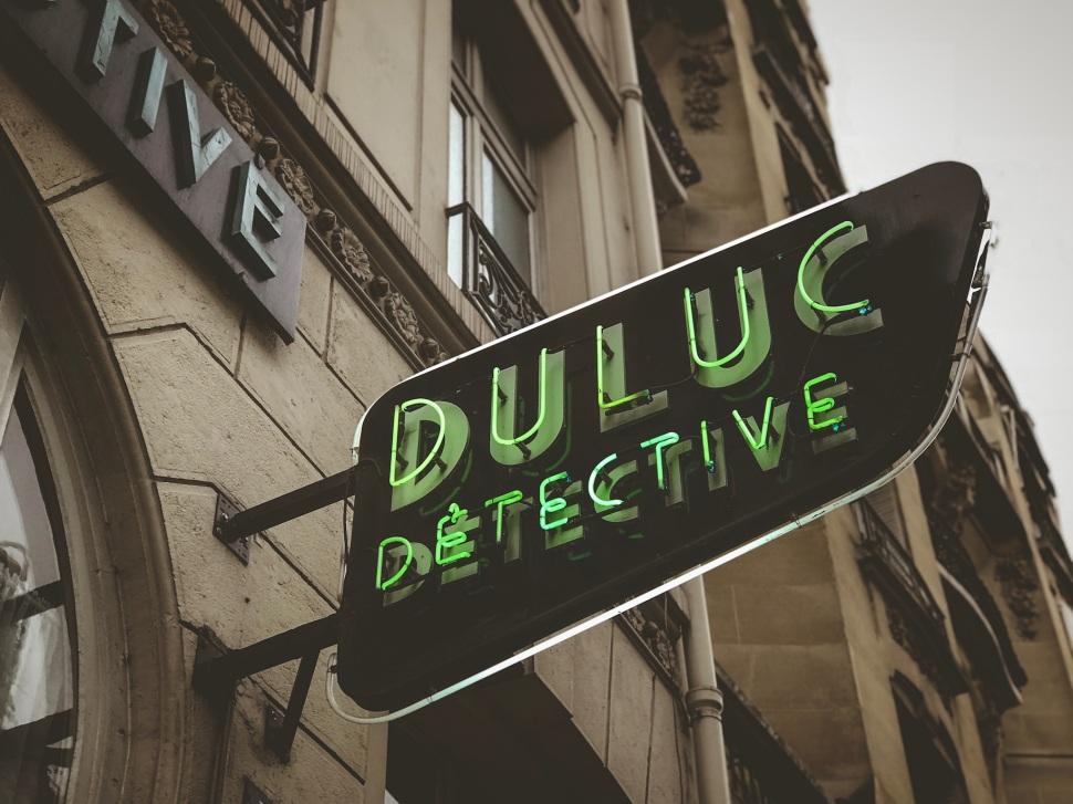 Duluc Detective sign, Paris France