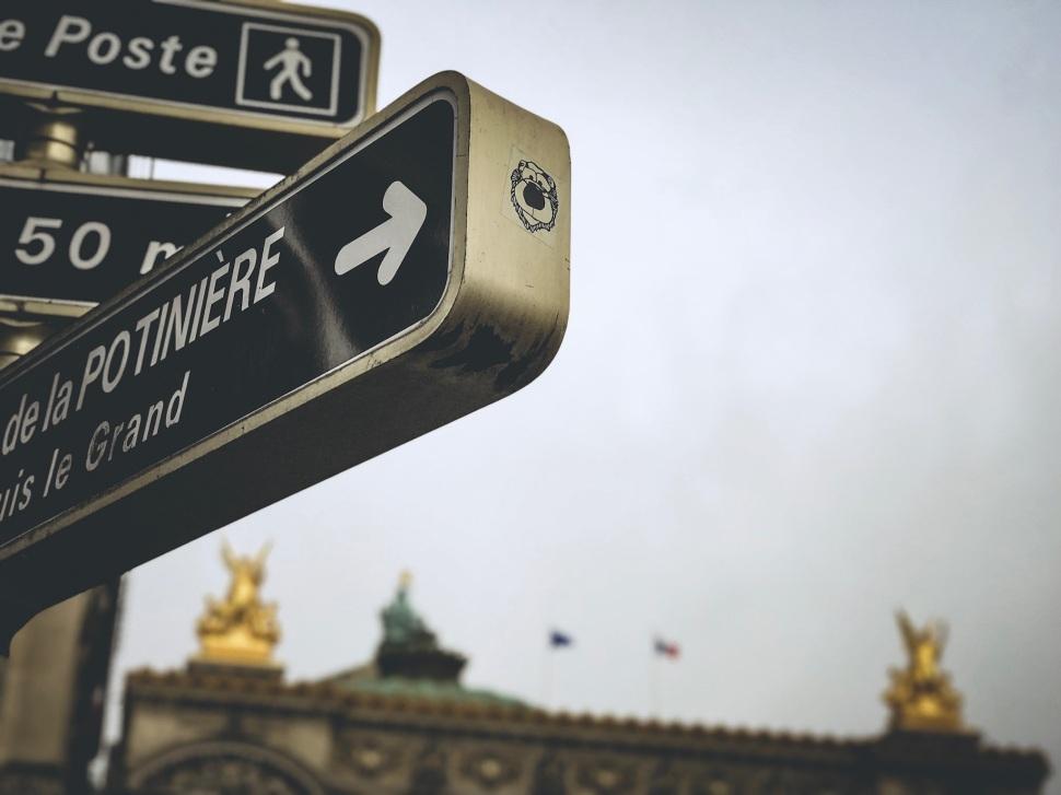 Detail at Place de l'Opéra, Paris France