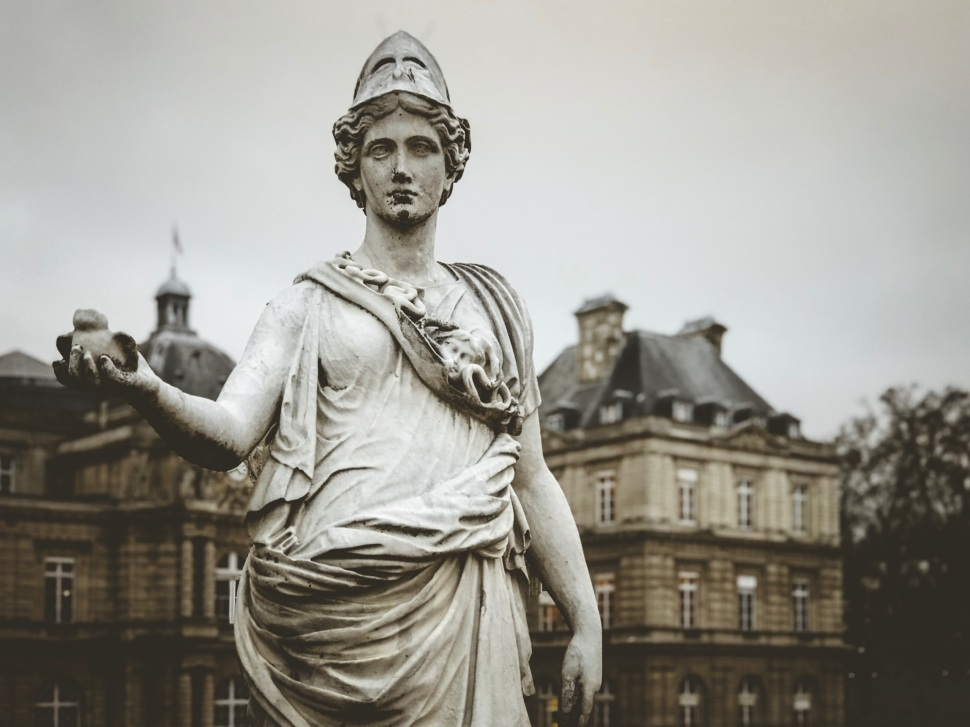 Statue at Luxembourg Gardens, Paris France