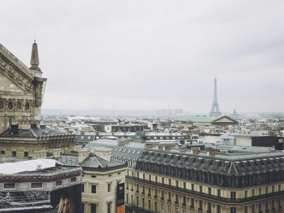 9th arrondissement rooftop view, Paris France