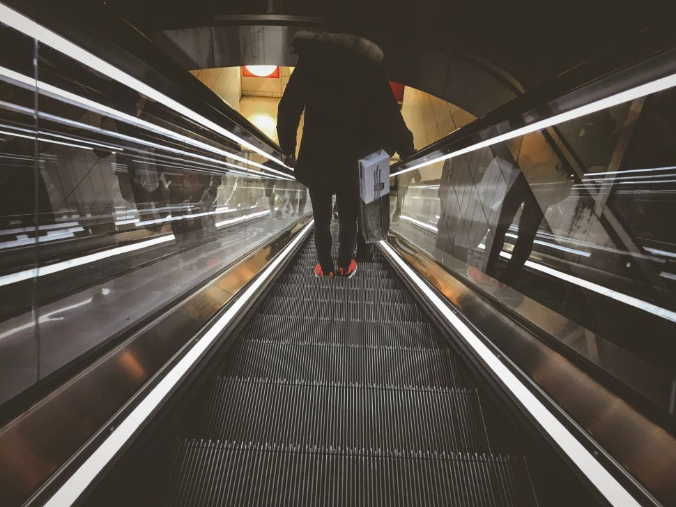 Escalator at Forum des Halles, Paris France