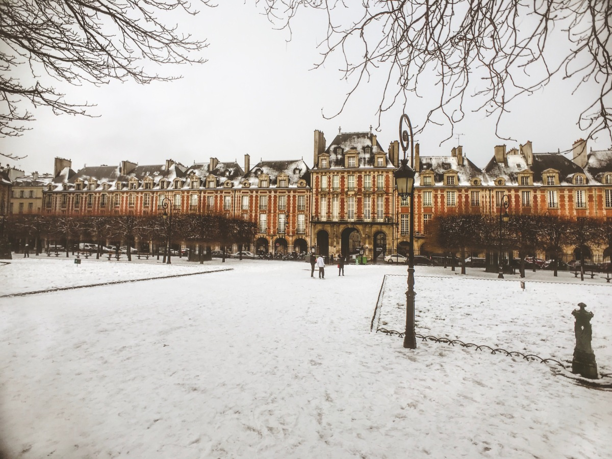 The Parisian Narnia: Place des Vosges Under the Snow
